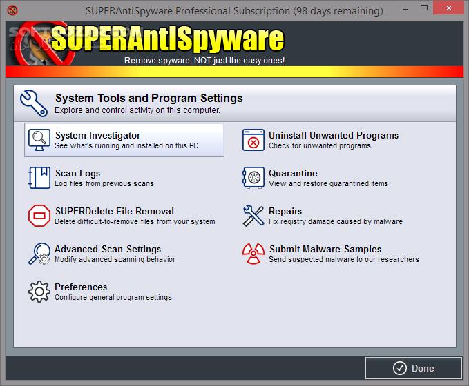SUPERAntiSpyware Professional 8 0 1046 Offline Update تصاویر نرم افزار  - سافت گذر