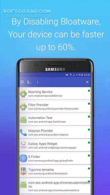 S Package Disabler for Samsung Pro v1 2 build 14 for Android 4 1 تصاویر نرم افزار  - سافت گذر