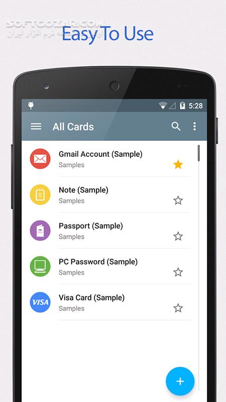 Password Manager SafeInCloud 19 3 7 for Android 4 1 تصاویر نرم افزار  - سافت گذر