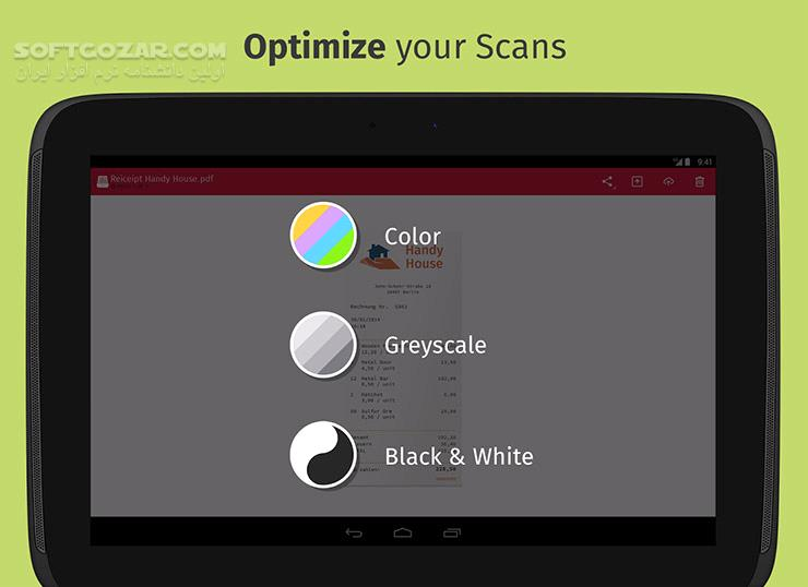 Scanbot Pro 7 5 7 241 for Android 4 0 تصاویر نرم افزار  - سافت گذر