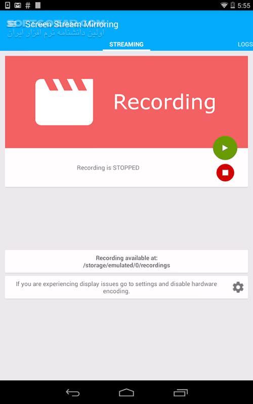 Screen Stream Mirroring 2 5 7c for Android 4 0 تصاویر نرم افزار  - سافت گذر