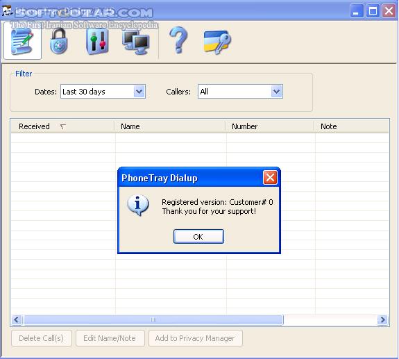 PhoneTray Dialup 2 35 تصاویر نرم افزار  - سافت گذر