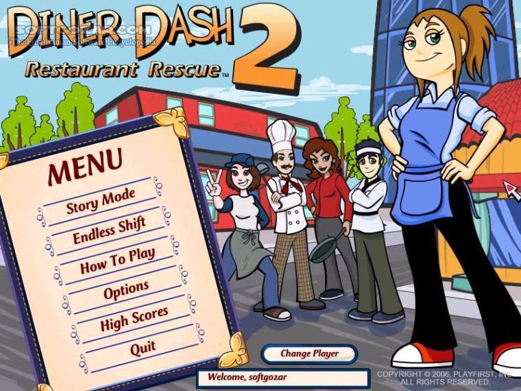 Portable Diner Dash 2 تصاویر نرم افزار  - سافت گذر