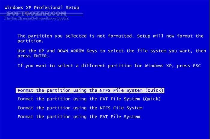 آموزش شبیه ساز نصب ویندوز XP تصاویر نرم افزار  - سافت گذر