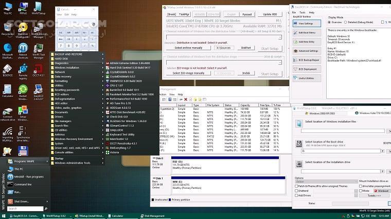 WinPE 10 8 Sergei Strelec 2019 05 04 English تصاویر نرم افزار  - سافت گذر
