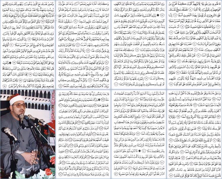 تلاوت مجلسی استاد شحات محمد انور سوره مبارکه کهف تصاویر نرم افزار  - سافت گذر