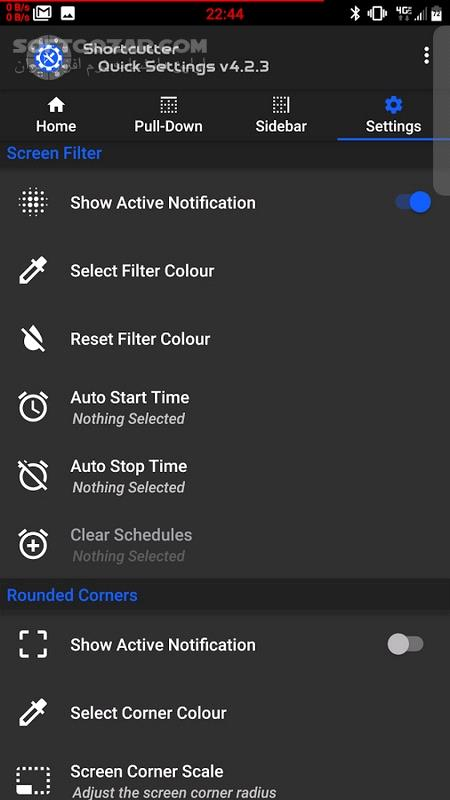 Shortcutter Quick Settings​ Sidebar Premium 5 9 9 For Android 6 0 تصاویر نرم افزار  - سافت گذر