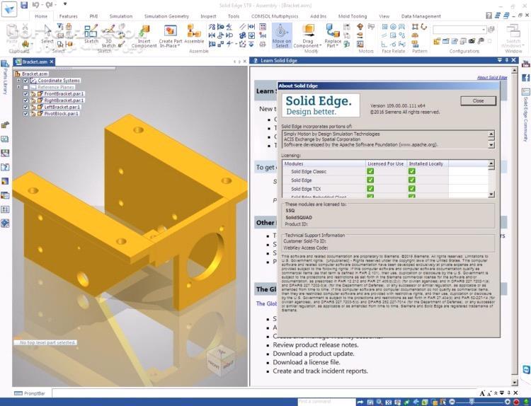 Siemens Solid Edge 2020 MP02 Standard Parts 2019 MP10 تصاویر نرم افزار  - سافت گذر