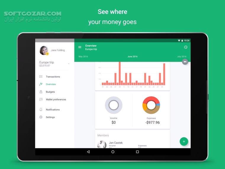 Spendee Pro 4 2 2 For Android 4 0 3 تصاویر نرم افزار  - سافت گذر