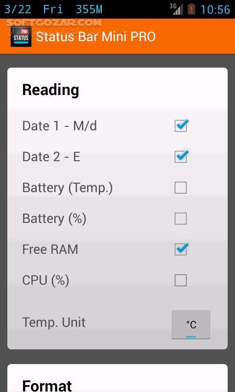 Status Bar Mini PRO 1 0 177 for Android 2 3 تصاویر نرم افزار  - سافت گذر