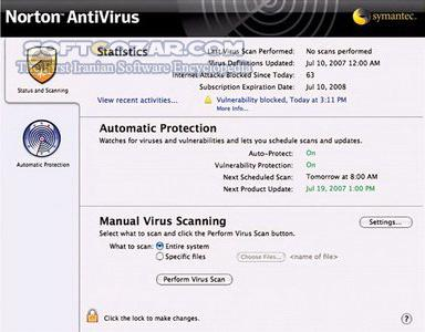Symantec AntiVirus Corporate Edition 10 2 3 for Mac OS X تصاویر نرم افزار  - سافت گذر