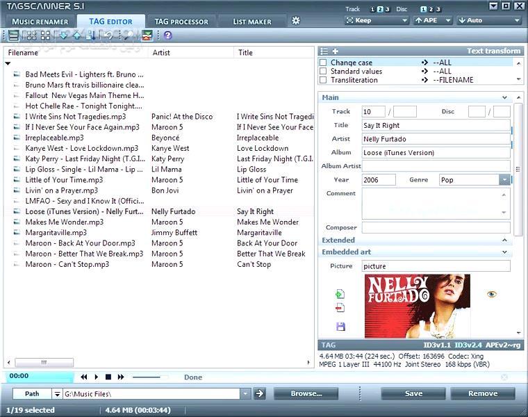 TagScanner 6 0 35 Portable تصاویر نرم افزار  - سافت گذر
