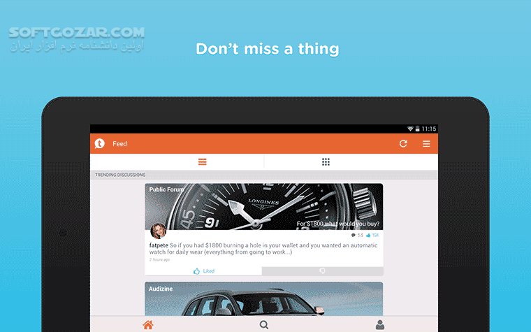Tapatalk Forum App 8 6 2 for Android 4 2 تصاویر نرم افزار  - سافت گذر