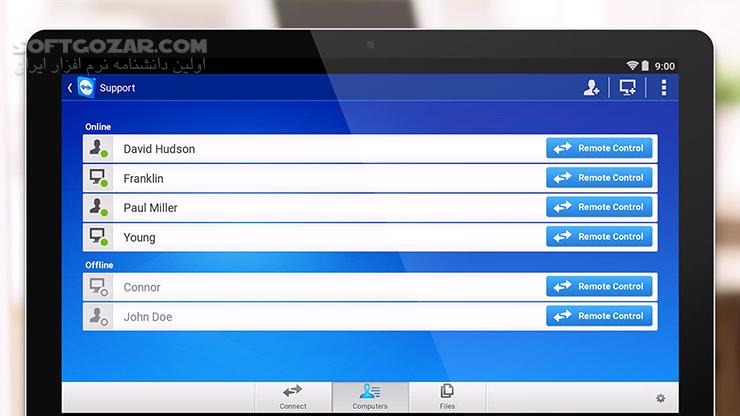 TeamViewer 15 2 36 QuickSupport 14 7 253 Host 15 2 22 for Android 4 0 تصاویر نرم افزار  - سافت گذر