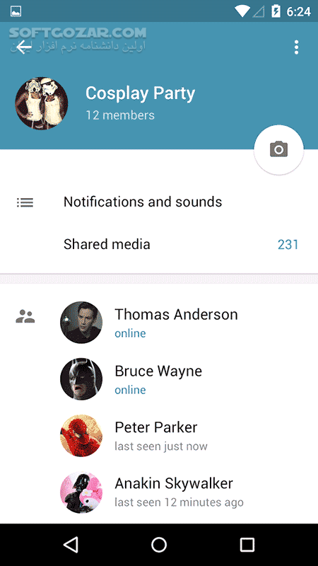 Telegram 5 12 0 for Android تصاویر نرم افزار  - سافت گذر
