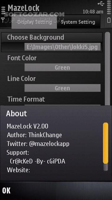 MazeLock 2 00 for Symbian تصاویر نرم افزار  - سافت گذر