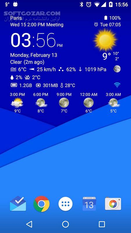 Transparent clock weather 3 00 06 for Android 3 0 تصاویر نرم افزار  - سافت گذر