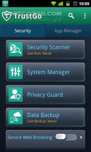 TrustGo Antivirus Mobile Security 3 0 0 for Android 2 2 تصاویر نرم افزار  - سافت گذر