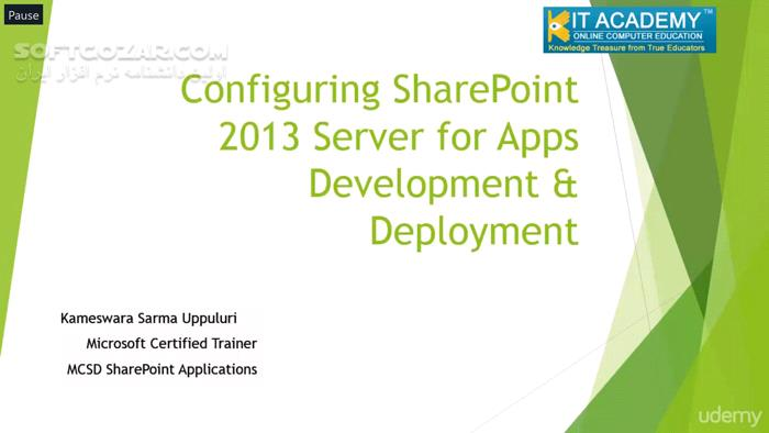 Udemy Configuring SharePoint 2013 Serve for Apps Development تصاویر نرم افزار  - سافت گذر