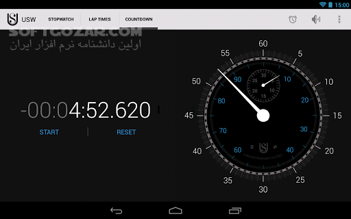 Ultimate Stopwatch Timer 6 0 5 for Android 2 1 تصاویر نرم افزار  - سافت گذر
