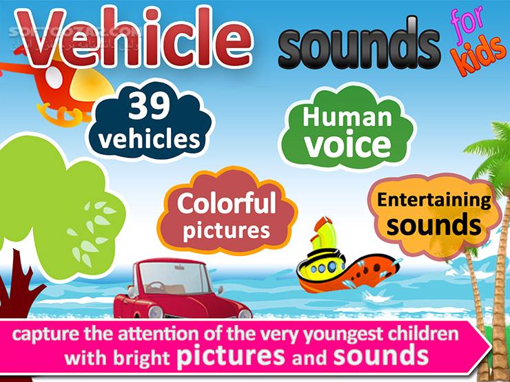 Vehicle sounds,pictures 4 kids 2 3 for Android 3 0 تصاویر نرم افزار  - سافت گذر