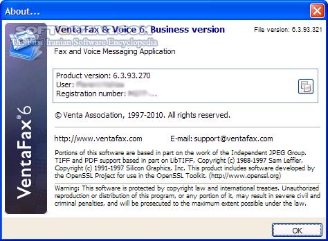 Venta Fax Voice 6 8 161 401 Business Version تصاویر نرم افزار  - سافت گذر