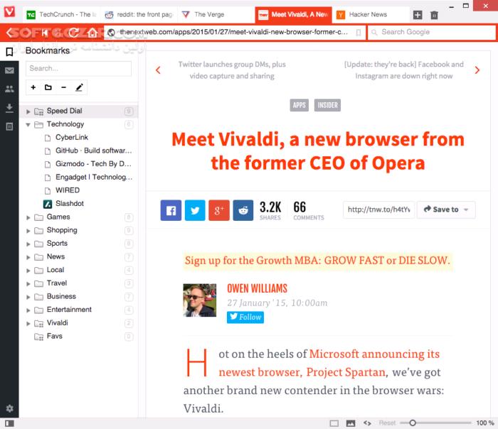 Vivaldi 2 9 1705 41 Win Mac Linux Portable تصاویر نرم افزار  - سافت گذر