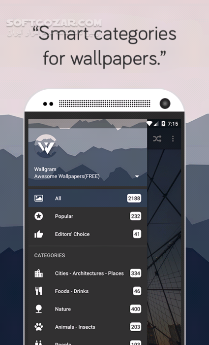 Wallgram – Awesome Wallpapers 1 2 6 for Android 4 1 تصاویر نرم افزار  - سافت گذر