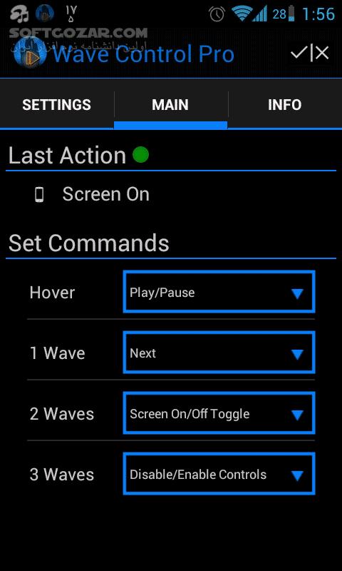 Wave Control Pro 2 84 for Android تصاویر نرم افزار  - سافت گذر