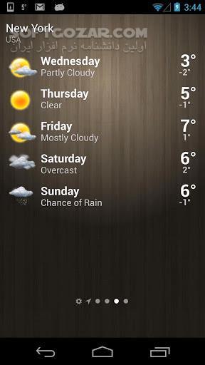 Weather 4 3 2 for Android 3 0 تصاویر نرم افزار  - سافت گذر