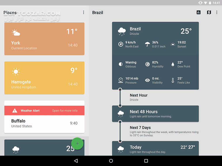 Weather Timeline 12 4 15 for Android 4 0 تصاویر نرم افزار  - سافت گذر