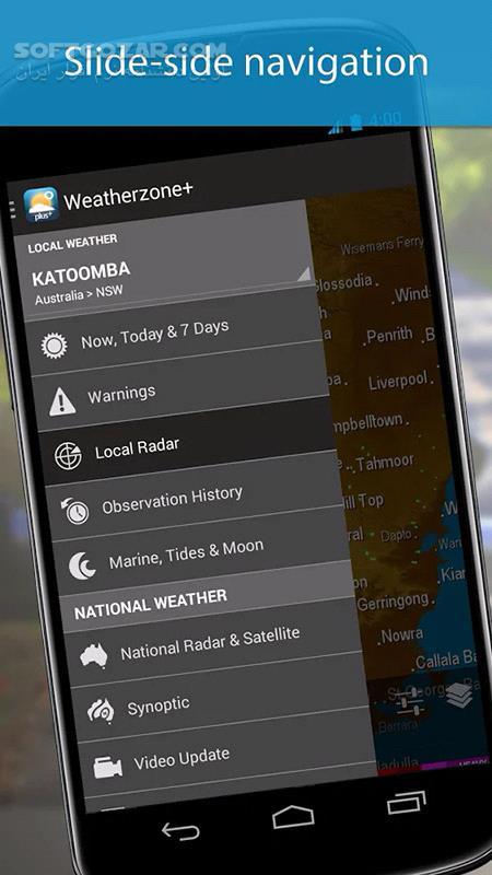 Weatherzone Plus 5 0 5 for Android 2 1 تصاویر نرم افزار  - سافت گذر