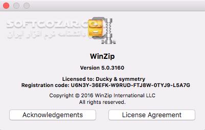 WinZip Pro 23 0 Build 13431 macOS 6 5 4149 تصاویر نرم افزار  - سافت گذر