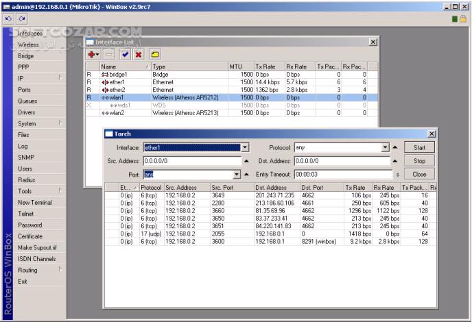 Winbox 3 0rc6 تصاویر نرم افزار  - سافت گذر