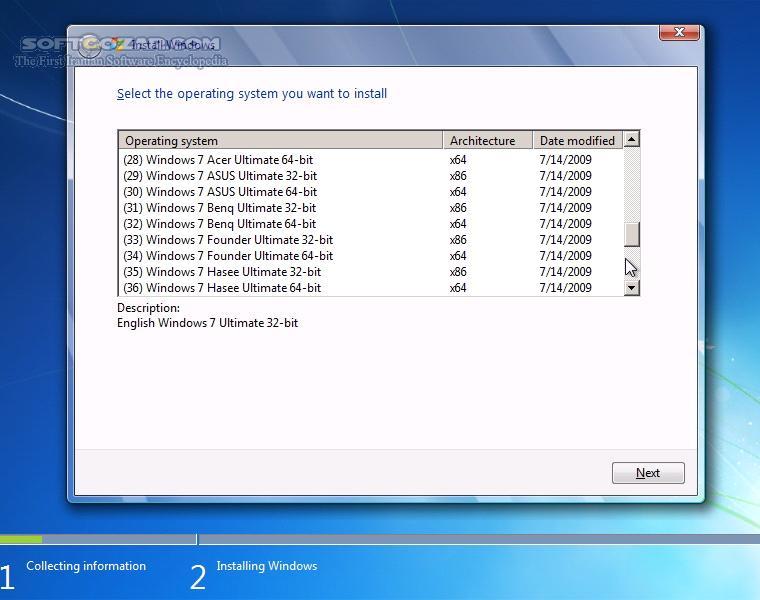 Windows 7 OEM 48 in 1 x86 x64 for Laptop and PC تصاویر نرم افزار  - سافت گذر