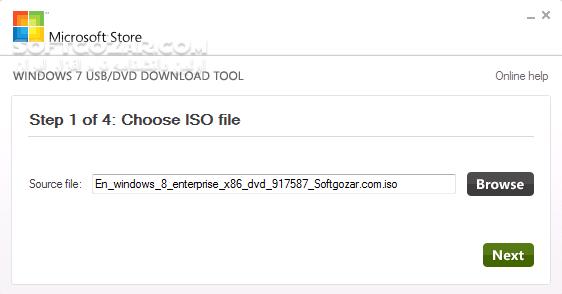Windows 7 USB DVD Download Tool 1 0 30 0 تصاویر نرم افزار  - سافت گذر
