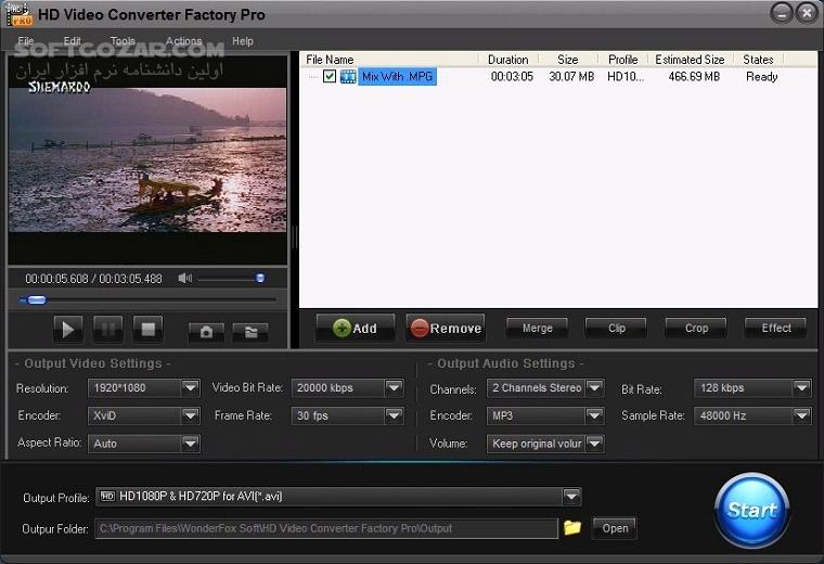 WonderFox HD Video Converter Factory Pro 18 5 Portable Repack تصاویر نرم افزار  - سافت گذر