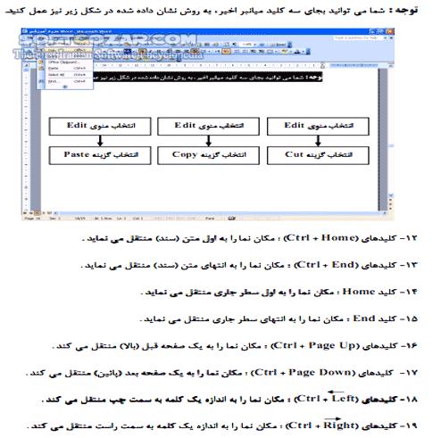 آموزش 2003 Word تصاویر نرم افزار  - سافت گذر