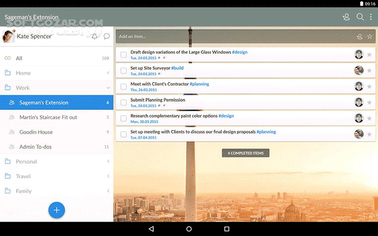 Wunderlist 3 4 8 for Android 4 0 تصاویر نرم افزار  - سافت گذر