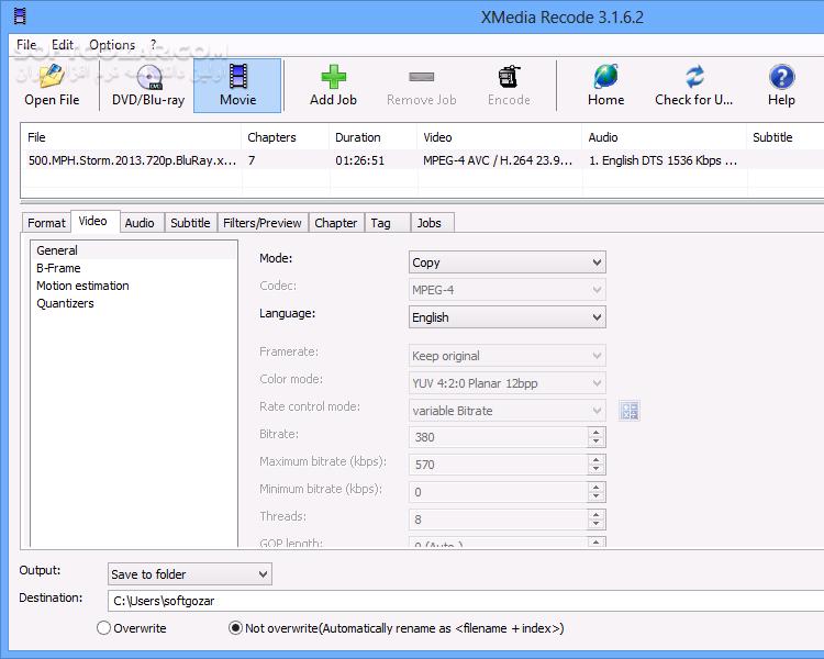 XMedia Recode 3 4 8 7 Portable تصاویر نرم افزار  - سافت گذر