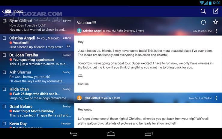 Yahoo Mail 6 0 11 for Android 4 1 تصاویر نرم افزار  - سافت گذر