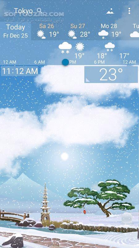 YoWindow Weather 2 17 16 Final For Android 4 0 3 تصاویر نرم افزار  - سافت گذر