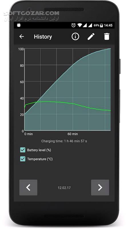 Battery Warner Pro 1 148 For Android 4 1 تصاویر نرم افزار  - سافت گذر