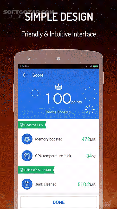 CM Speed Booster 1 5 9 for Android 2 3 تصاویر نرم افزار  - سافت گذر