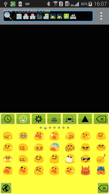 Emoji Keyboard 7 v6 4 for Android 4 0 تصاویر نرم افزار  - سافت گذر