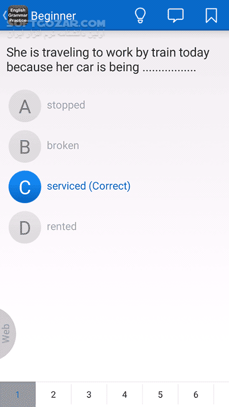 English Grammar Practice 2 49 for Android 2 3 تصاویر نرم افزار  - سافت گذر