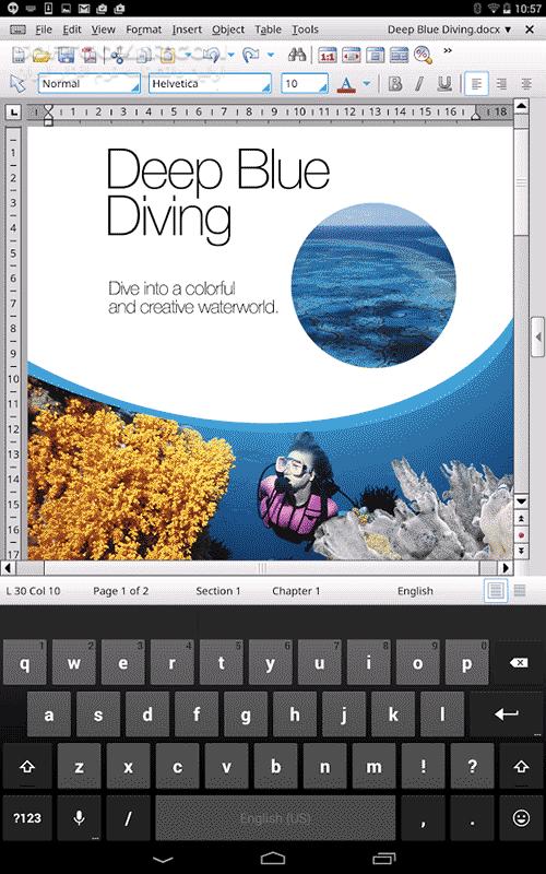 Office HD TextMaker FULL 2016 767 0623 for Android 4 0 تصاویر نرم افزار  - سافت گذر
