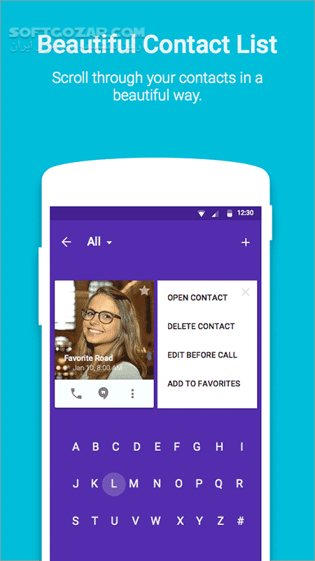 Ready Contacts Dialer Pro 2 1 0 for Android 4 0 تصاویر نرم افزار  - سافت گذر