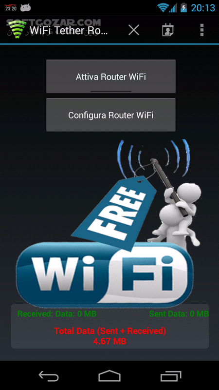 WiFi Tether Router 6 2 7 for Android 4 0 2 تصاویر نرم افزار  - سافت گذر