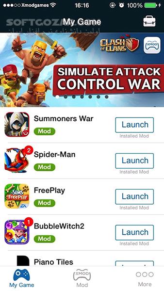 XModGames 2 3 5 for Android 2 3 تصاویر نرم افزار  - سافت گذر